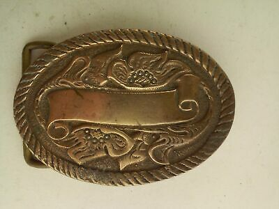 AMSCO Pure Silver on Solid Brass Belt Buckle Oval
