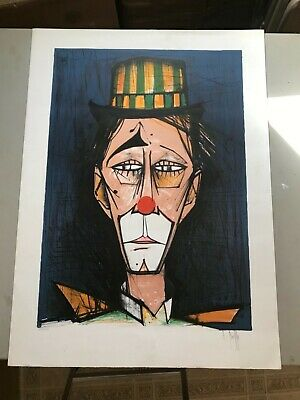 Peachy Rare Bernard Buffet Huge Clown Lithograph Signed And Numbered Beautiful Print Home Interior And Landscaping Palasignezvosmurscom