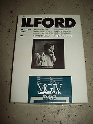 Ilford MGIV Multigrade RC Deluxe Pearl 5x7 Photographic Paper MGD.44M OPEN BOX