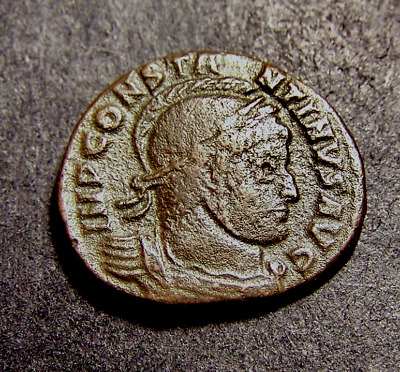CONSTANTINE I, Victories @ Altar, Old France, RARE Imperial Roman Emperor Coin