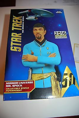 SDCC 2016 Exclusive Star Trek Mirror Spock Statue Paperweight LE 234/1000