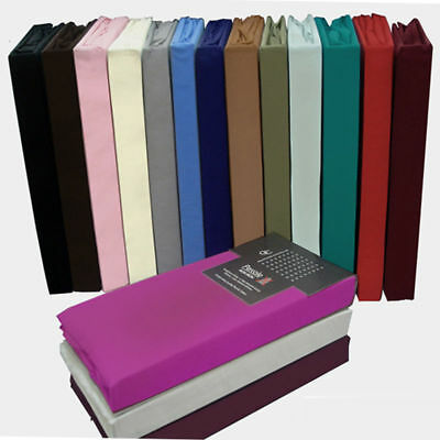 Percale Quality Non Iron Bed Sheets Plain Fitted Flat Valence Sheets Pillowcases