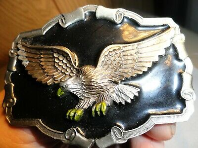 1997 Gap Great American Products Eagle Belt Buckle Solid Pewter & Enamel New