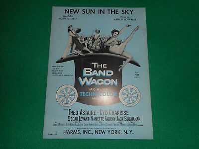 New Sun in the Sky Fred Astaire Cyd Charisse 1953 original sheet music