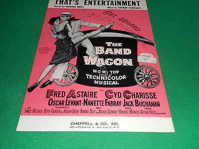 That's Entertainment Fred Astaire Nanette Cyd Charissse 1953 sheet music EX cond