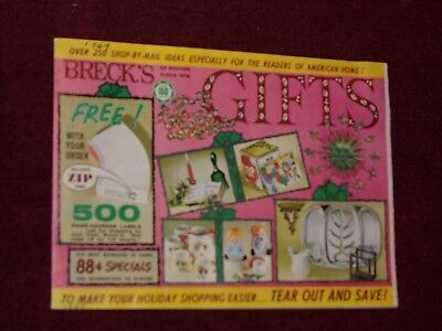 VTG 24 Pages 1969 Brecks Of Boston Christmas Gift Xmas Color Catalog Brochure