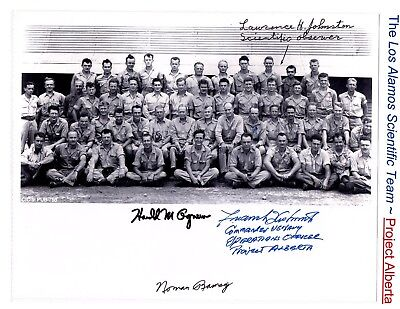 Los Alamos Project Alberta Atomic Scientific Team 8x10 Photograph Signed by 4 Me