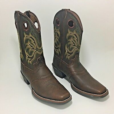 1e06d58c815 SZ 2.5 D KIDS Brown JUSTIN # 2669Y Bay Westerner SQUARE TOE WESTERN ...
