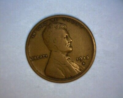 1915 S Lincoln Cent, >Better Date< **partial Wheat Lines** Nice Brown **us  Coin