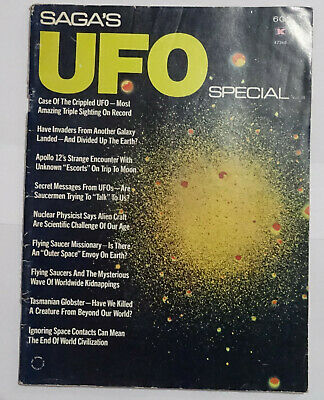 Saga's Ufo Special Vol Iii, 1972 Vintage Mag, Flying Saucer Abductions, Aliens