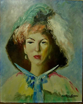 Quebec Oil Painting On Board Of Yong Woman Signed Jean-Pierre Comeau