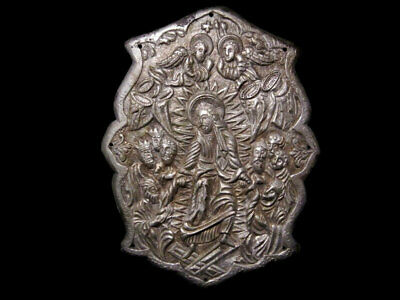 Magnificent Post Medieval Orthodox Church Book Huge Silver Mount Applique+++