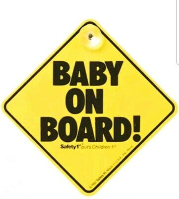 Safety 1st Baby On Board Sign in Yellow