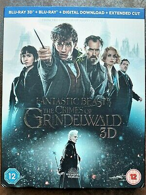 Fantastic Beasts The Crimes of Grindelwald New blu ray Movie Disc + Digital Code