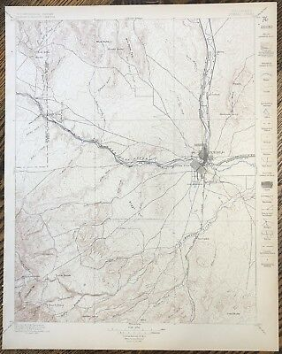 1894-1897 Pueblo Colorado Arkansas River Survey Topographical Map