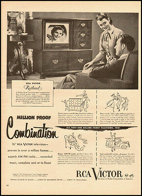 """1951 Vintage Ad for RCA Victor 16"""" Television (010312)"""