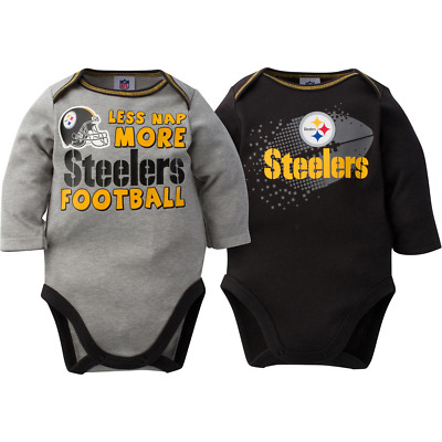 569c8126 Pittsburgh Steelers NFL Infant Boys' 2-Pack Long-Sleeve Bodysuits, 18 Months
