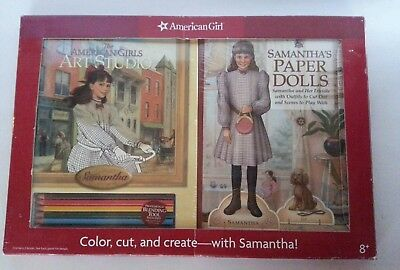 Unopened Unused American Girl Samantha Paper Doll And Art Set From 2006 New