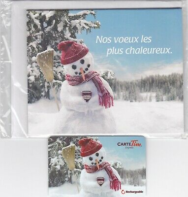 Tim Hortons christmas card collectable-in French- tim hortons gift card 0$
