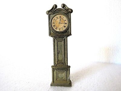 Miniature Brass Vintage GRANDFATHER CLOCK made in England