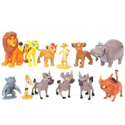12pcs Disney Movie The Lion King Simba Cake Toppers Figure Doll Set Kid Toy Gift