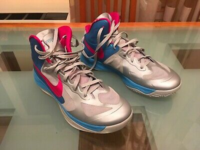 2d7fb8723b32 Nike Zoom Hyperfuse 2012 Basketball Shoes Size 13 US grey   Blue   Pink  GREAT