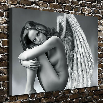 "Fantasy Angel girl naked Painting HD Print on Canvas Home Decor Wall Art 16""x22"""