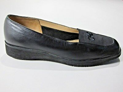 89b0207ef8c Sesto Meucci Womens 5.5 B Black Leather Loafers Comfort Shoes