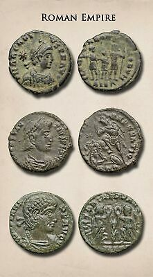 ROMAN IMPERIAL. Lot of 3 Late Empire Bronzes