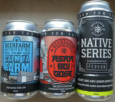 Three Small Brewery Beer Cans from Beerfarm Western Australia (Lot 3)