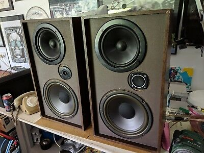 Vintage Speakers, Electro-Voice Inc Interface 2 Speakers Made In Usa, Ev 2
