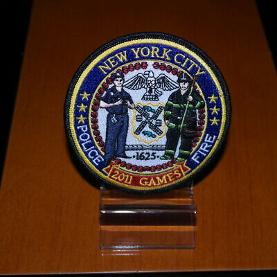 New York City Firefighters Patch Police & Firefighter Games 2011 Brand New F.D.