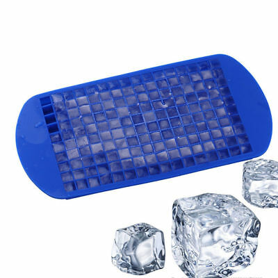 Blue 1PC *160 Grids Cube Mold Square Silicone Bar Ice Tray Maker DIY Frozen Cube