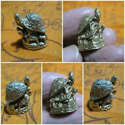 Brass Figurine Thai Kama Sutra Couple Turtle Amulet Statue Surprise Lovers F9-F