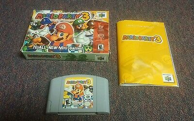 Mario Party 3 (Nintendo 64, 2001)  Complete with box and instructions.