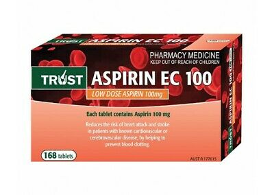 SAME AS CARTIA 100 mg enteric coated aspirin (TRUST BRAND) X 168 TABLETS