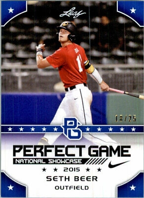 SETH BEER 2015 Leaf Perfect Game NIKE All-American SHOWCASE BLUE Rookie #/25