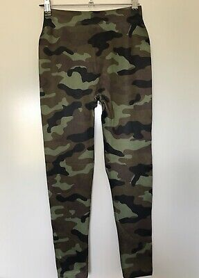 Ladies Green Brown CAMO Leggings Size Small