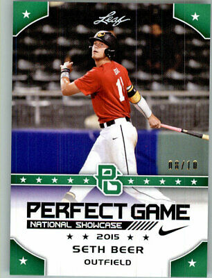 SETH BEER 2015 Leaf Perfect Game NIKE All-American SHOWCASE GREEN Rookie #/10