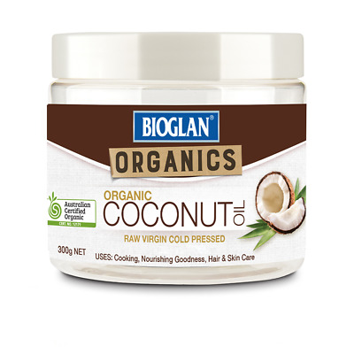 Bioglan Organic Coconut Oil 300G Raw Virgin Cold Pressed Hair Skin Energy Boost