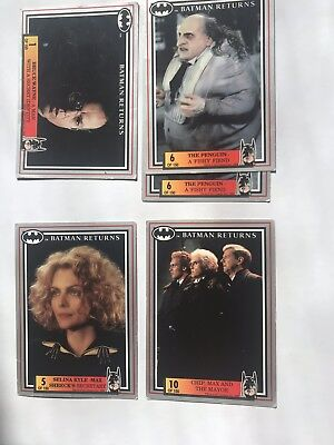 Dynamic Marketing Trading Cards: Batman Returns 34 Cards- Numbers Between 1-69