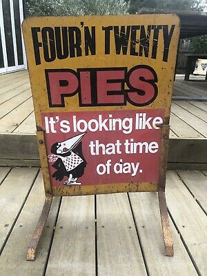 1960s Vintage Four n Twenty Pies sign