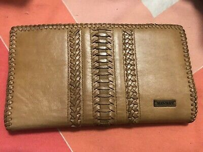 Kivari Tan Leather Wallet / Clutch **NEW**