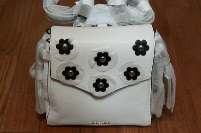 f7b1fd048db6 NWT Michael Kors  328 Bristol Small Leather Backpack Bag Tote Optic White  Black