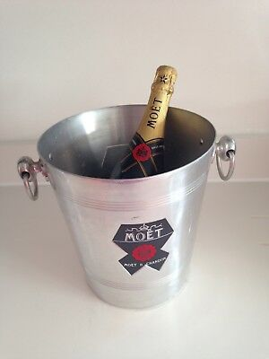 Vintage French Moët & Chandon Aluminium Champagne Buckets -/ Holders - 2 Buckets