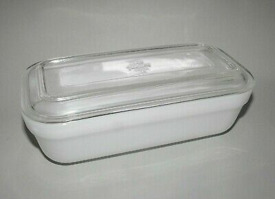 Anchor Hocking Fire King Casserole Baking Dish w. Lid RARE Oblong Cheese Butter
