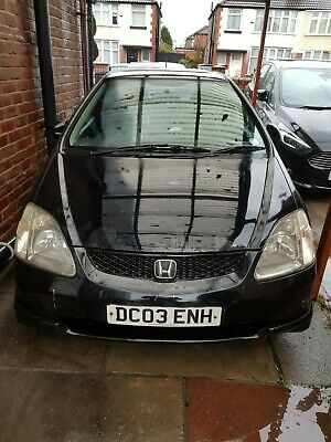 2003 Honda Civic 1.6 i-VTEC Sport 3 Door Half Leather Black Manual