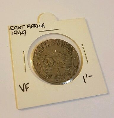 1949 East Africa 1 Shilling Coin VF