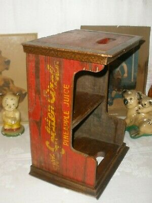 VINTAGE Advertising CRATE Golden Circle SOLID TIMBER Industrial UTILITY PIECE