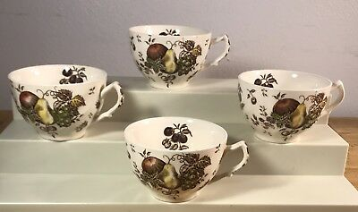 Lot of 4~Vintage Johnson Brothers AUTUMN'S DELIGHT Coffee / Tea CUPS